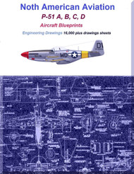 North American Aviation P-51 A,  B / C, D / K  Aircraft Blueprints Engineering Drawings (R) -  2 DVDs
