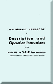 North American Aviation NA-64 Yale  Aircraft  Description and Operation Instruction