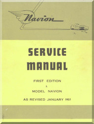 North American Aviation Navion Aircraft Service Manual - 1951