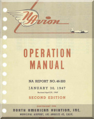 North American Aviation Navion  Aircraft  Operation  Manual -  Report NA-46-203 , 1947