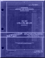 North American Aviation L-17 A, B, C Navion  Aircraft  Erection and Maintenance  Manual -  01-100LAA-2 , 1948