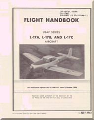 North American Aviation L-17 A, B, C Aircraft Flight Handbook Manual - 1-1L-17A-1 - 1953