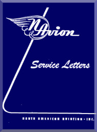 North American Aviation Navion Aircraft Service Letter Manual - 1946 - 1951