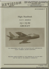 North American Aviation FJ-3, -3M  Aircraft  Flight Handbook -  01-60JKC-1 , 1955