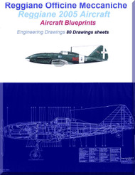 Reggiane 2005 Aircraft Blueprints Engineering Drawings - Download