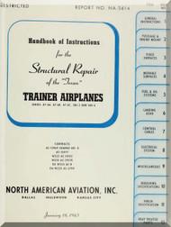 North American Aviation AT-6 A, B  SNJ -3, -4,  Aircraft  Structural Repair  Manual -  North America Report NA5614 1943