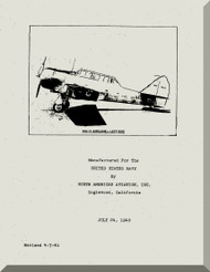 North American Aviation SNJ- 2 Aircraft Maintenance Manual - 1940