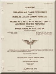 North American Aviation BC-1 AT-6 SNJ Aircraft Pilot Manual - 01-60FC-1 - 1941