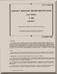 North American Aviation T-6 G Aircraft Inventory Manual 1T-6G-21