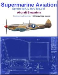 Supermarine Spitfire Mk.IV thru Mk.VIII Aircraft Blueprints Engineering Drawings - Download