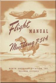 North American Aviation P-51 A Aircraft Flight Manual NA-5740
