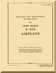 North American Aviation A-36  Aircraft  Erection and Maintenance  Manual -  TO 01-60HB-2 - 1943