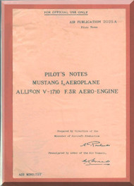 North American Aviation Mustang I  Aircraft Pilot Manual