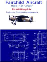 "Fairchild F-24 "" Argus "" Aircraft Blueprints Engineering Drawings - Download"