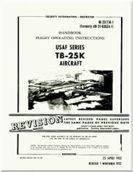 North American Aviation TB-25K  Aircraft Handbook Flight Operating Instructions  Manual - AN  01-60GEA-1 , 1952