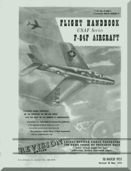 Republic F-84-F  Aircraft Flight  Manual AN. 01-84F-1  1953