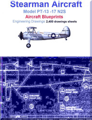 Stearman PT-13 -17 N2S Aircraft Blueprints Engineering Drawings - Download