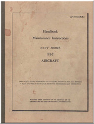 North American Aviation FJ-2 Aircraft  Maintenance Instruction Handbook - NAVAER  01-60JKB-2 , 1954