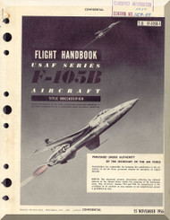 Republic F-105 B  Aircraft Flight Handbook  Manual TO 1F-105B-1  - 1956