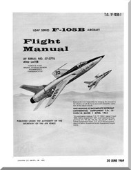 Republic F-105 B  Aircraft Flight Handbook  Manual TO 1F-105B-1  1969