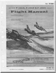 Republic F-105 D F G Aircraft Flight Handbook  Manual TO 1F-105D-1