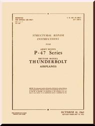 Republic P-47 Thunderbolt Aircraft Structural Manual 01-65B-3 - 1942