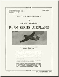 Republic P-47 N Aircraft Pilot's Flight Instructions  Manual NO 01-65BD-1  - November 1945 -