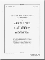 Republic P-47  Aircraft Erection & Maintenance Manual - 01-65BC-2 - 1944 - 1945
