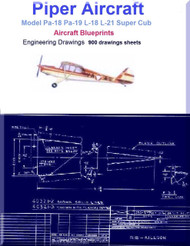 Piper Pa-18 Pa-19 L-18 L-21 Super Cub Aircraft Blueprints - Download