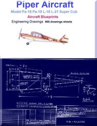 Piper Pa-18 Pa-19 L-18 L-21 Super Cub Aircraft Blueprints - Download