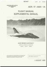 Aeritalia Aermacchi  Embraer AMX Aircraft Flight Supplement Manual AER. 1F-AMX-1-1