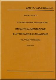 Aeritalia / Lockheed F-104 S Aircraft Maintenance  Power Plant Systems  Manual, ( Italian Language ) AA 1F-104S / ASAM-2-10,