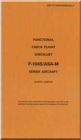 Aeritalia / Lockheed F-104 S Aircraft Check Functional Check Flight Manual, ( Italian Language ) AA 1F-104S / ASAM-33CL1