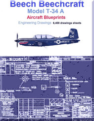 Beech T-34 A Aircraft Blueprints Engineering Drawings - Download