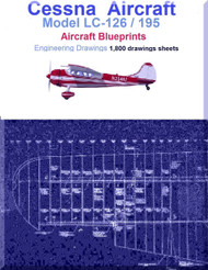 Cessna LC-126 / 195 Aircraft Blueprints Engineering Drawings  - DVD