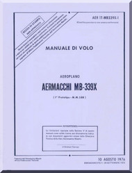 Aermacchi MB-339 X Aircraft Flight  Manual -  ( Italian Language )