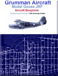 Grumman Goose JRF Aircraft Blueprints Engineering Drawings - DVD