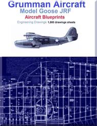 Grumman Goose JRF Aircraft Blueprints Engineering Drawings - DVD