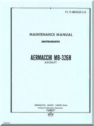Aermacchi M- 326 H Aircraft Maintenance  Manual - Instruments ( English Language )