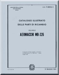 Aermacchi M- 326 Aircraft Illustrated Parts Catalog   Manual ( Italian Language )