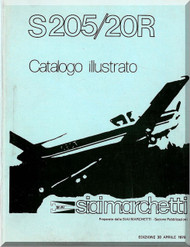 SIAI Marchetti S. 205  / 20R Aircraft  Illustrated Parts  Manual,  Catalogo Illustrato  (Italian Language )