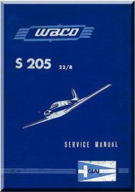 SIAI Marchetti S. 205 22 / R Aircraft  Service  Manual,  Manuale di servizio   ( Italian  English Language )