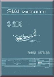 SIAI Marchetti S. 208 Aircraft  Illustrated Parts  Manual,  Catalogo Illustrato  ( English  Language ) ,