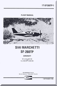SIAI Marchetti SF-260 TP Aircraft Flight Manual -1962