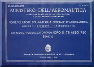Savoia Marchetti S.78 Aircraft Illustrated Parts Catalog  Manual, Catalogo Nomenclatore ( Italian Language )