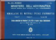 Savoia Marchetti S.M.82 Aircraft Illustrated Parts Catalog  Manual, Catalogo Nomenclatore -  ( Italian Language ) , 1941
