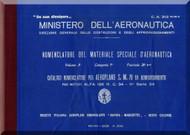 Savoia Marchetti S.M.79 Aircraft Illustrated Parts Catalog  Manual, Catalogo Nomenclatore ( Italian Language ) C.A. 313 Ter B.3 - 1939