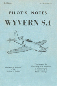 Westland Wyvern S.4  Aircraft  Pilot's Notes Manual