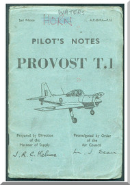 Percival Provost T.1  Aircraft  Pilot's Notes Manual