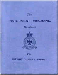 Percival Provost T.1  Aircraft  Instrument Mechanic Manual -